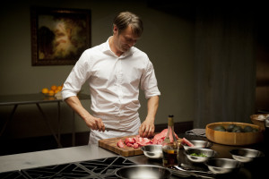 "HANNIBAL -- ""Apertif"" Episode 101 -- Pictured: Mads Mikkelsen as Dr. Hannibal Lecter -- (Photo by: Brooke Palmer/NBC)"