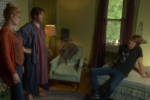 """(L to R) Connie Britton as """"Greg's Mom,"""" Nick Offerman as """"Greg's Dad"""" and Thomas Mann as """"Greg"""" in ME AND EARL AND THE DYING GIRL. Photo coutesy of Fox Searchlight Pictures. © 2015 Twentieth Century Fox Film CorporationAll Rights Reserved"""