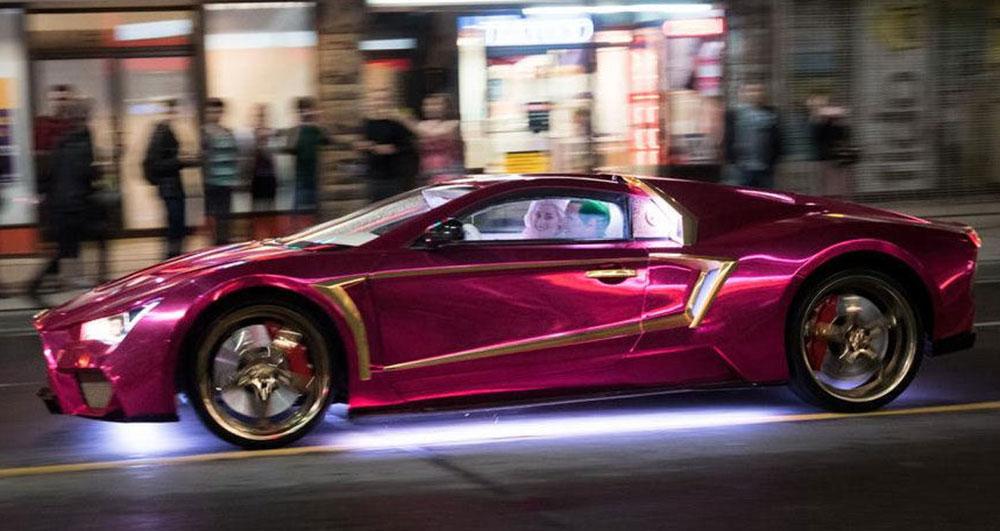 Cinema E Musica Suicide Squad 176 Purple Lamborghini 176 C